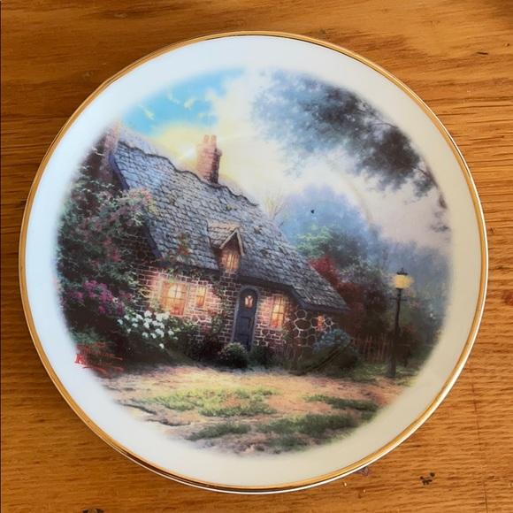"""Thomas Kincaid """"Moonlight Cottage"""" plate"""